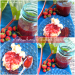 Strawberry Rhubarb Jam by DelightfulEMade.com