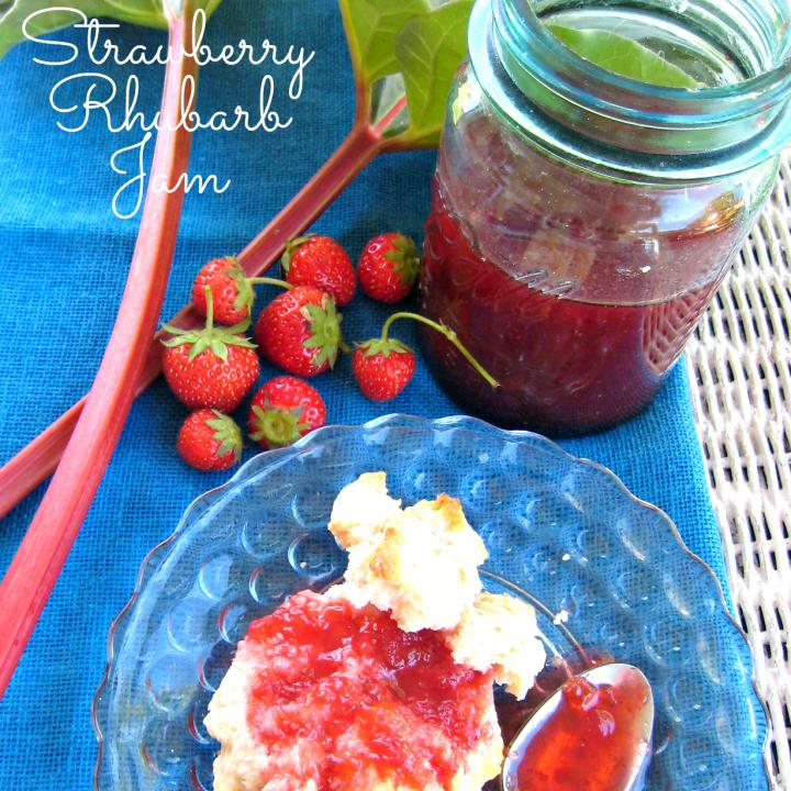 Strawberry Rhubarb Jam by DelightfulEMade.com