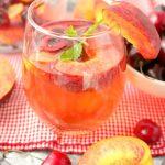 Easy Peach and Cherry Sangria