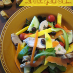 Garden Salad with Pesto Grilled Chicken
