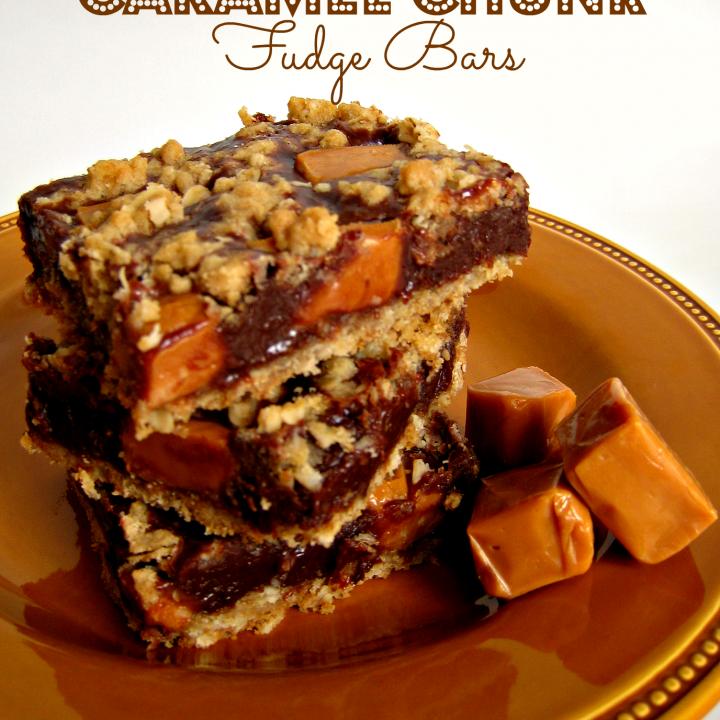 Caramel Chunk Fudge Bars