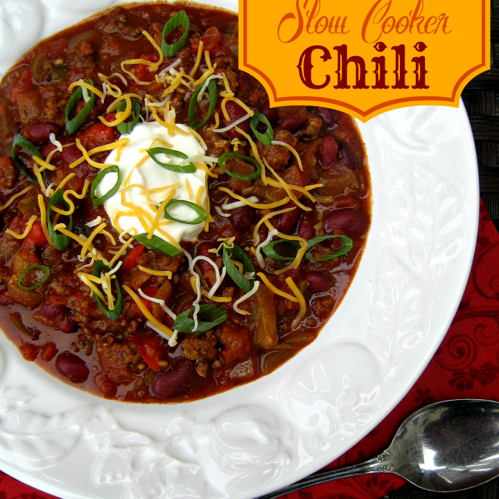 Loaded Slow Cooker Chili