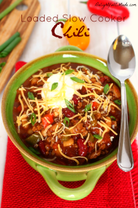 Loaded with delicious peppers, onion, beans and ground beef, this chili recipe is amazing! A fantastic dinner idea for any night of the week!