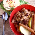 Slow Cooker September: Overnight Apple Cinnamon Oatmeal