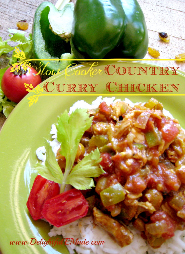 Slow Cooker Country Curry Chicken by Delightful E Made
