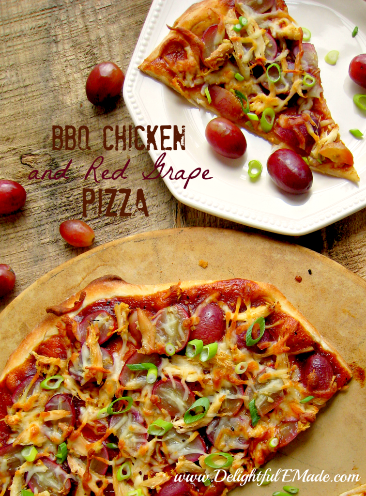 BBQ Chicken and Red Grape Pizza