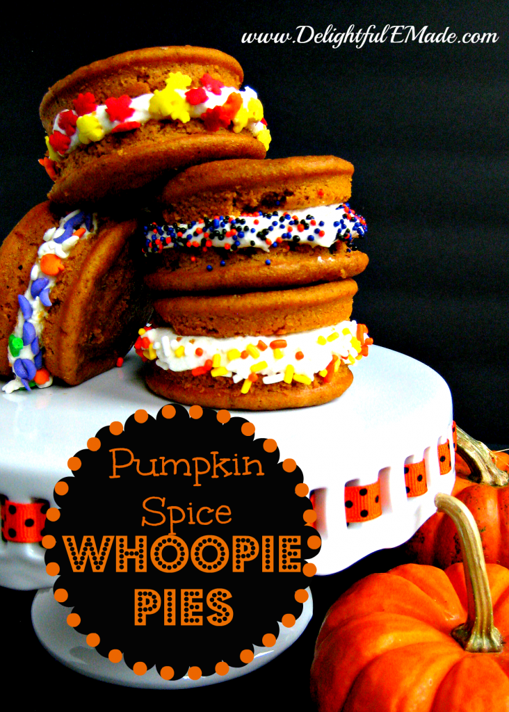 Pumpkin Spice Whoopie Pies by Delightful E Made
