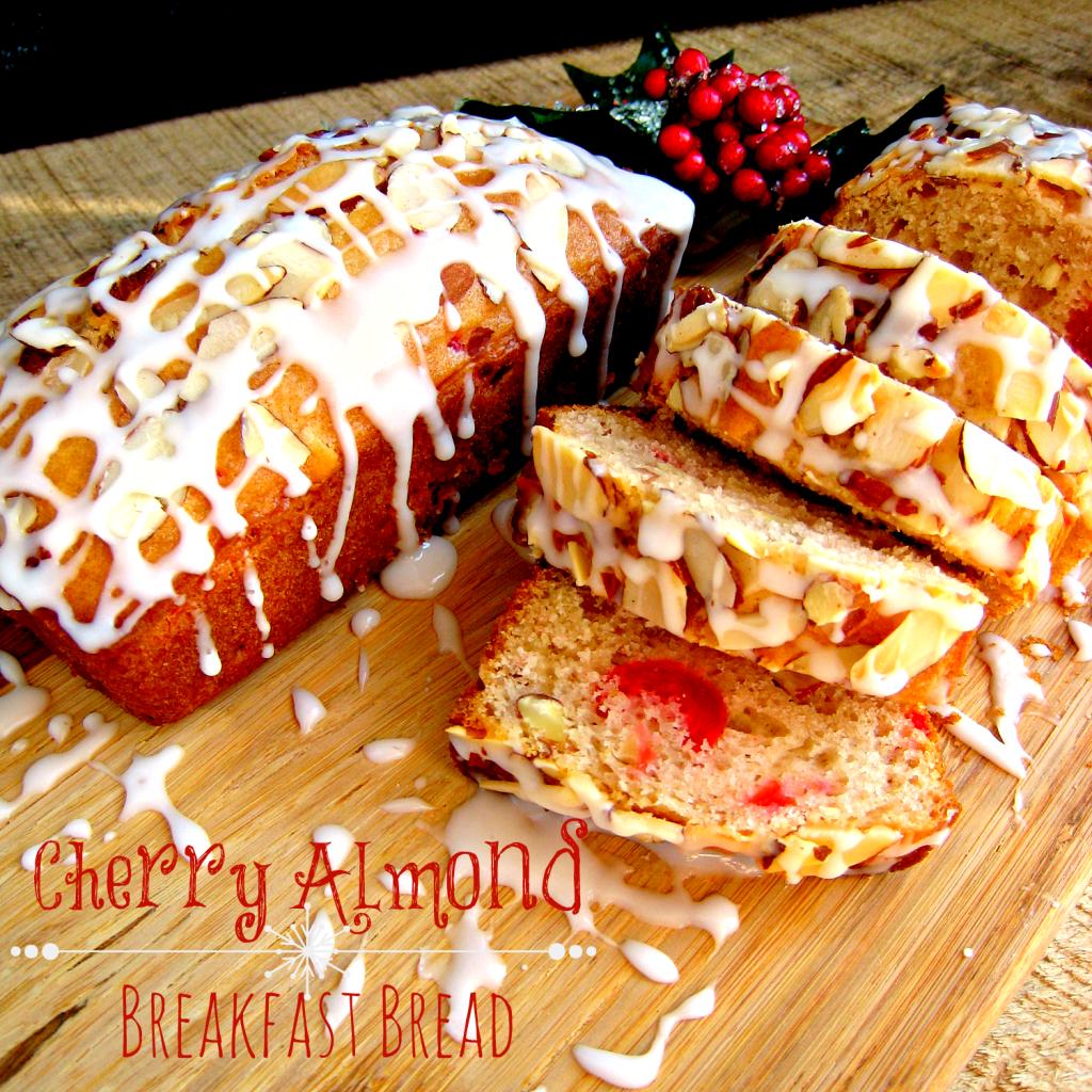 Cherry Almond Breakfast Bread by Delightful E Made