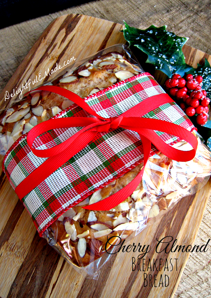 Cherry Almond Breakfast Bread by Delightful E Made