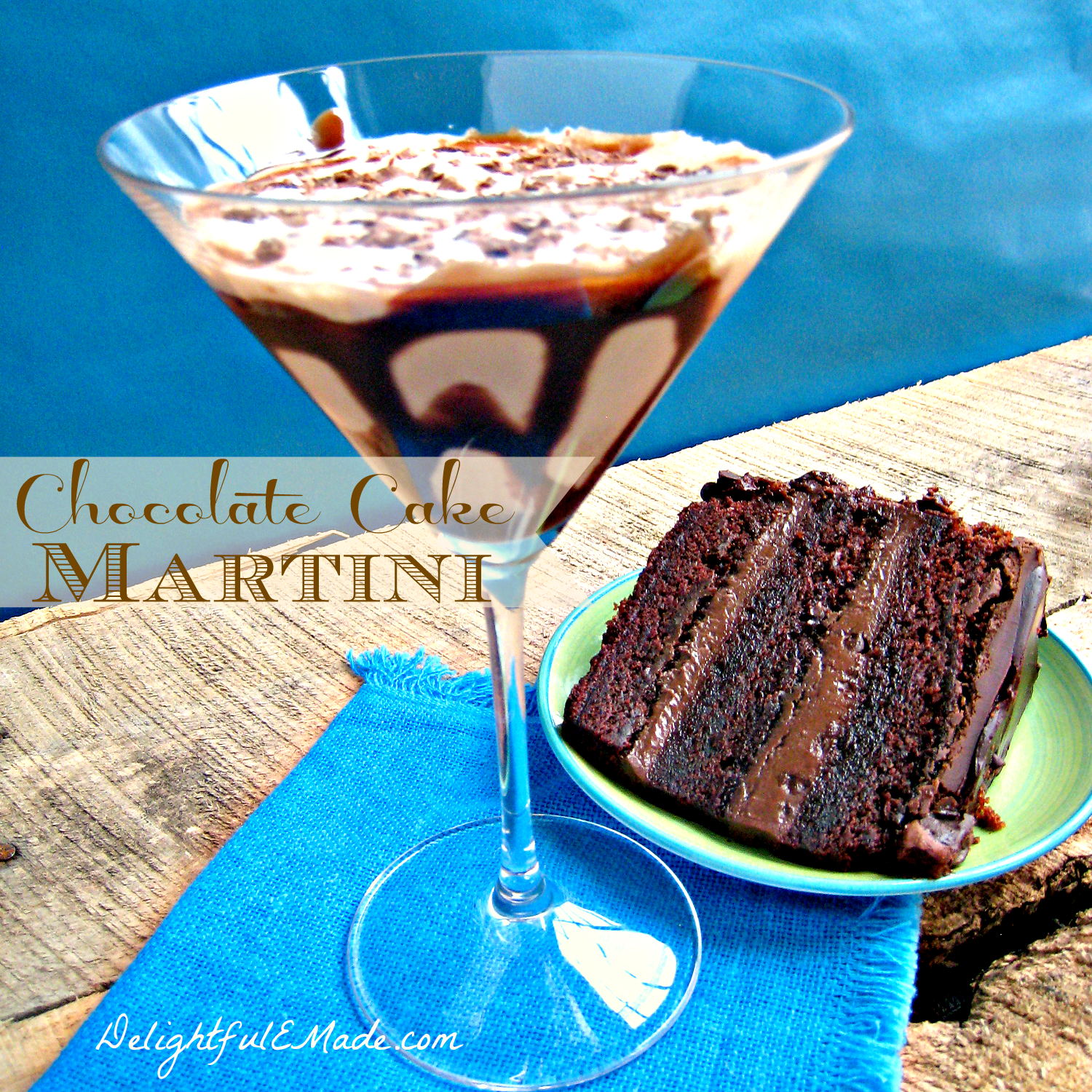 Cocktails chocolate cake