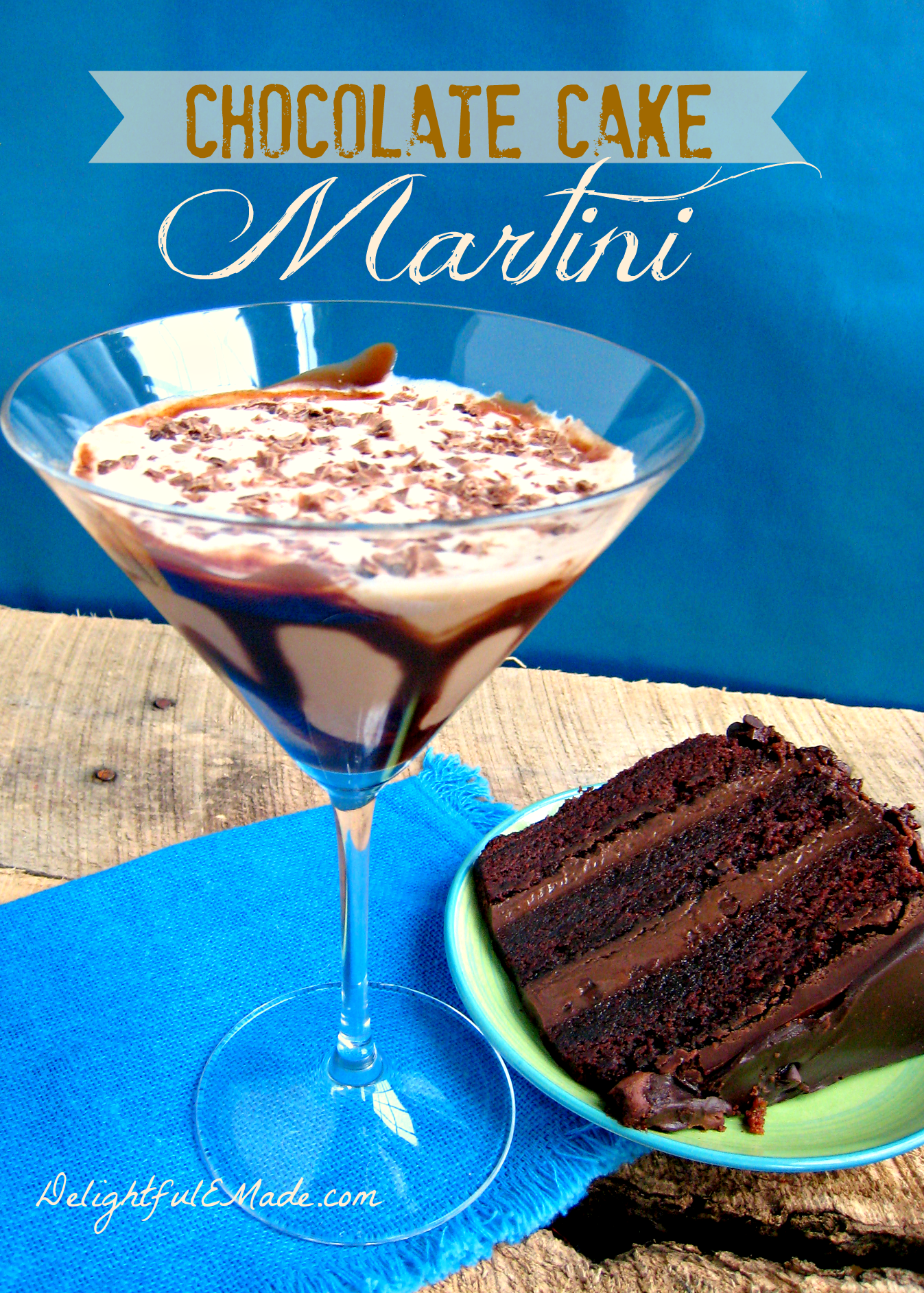 Marvelous Chocolate Cake Martini Delightful E Made Funny Birthday Cards Online Inifodamsfinfo