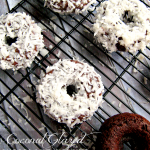 Coconut Glazed Chocolate Donuts