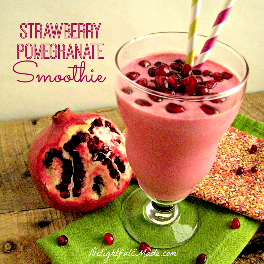Strawberry Pomegranate Smoothie by Delightful E Made