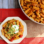 Loaded Chicken Enchilada Pasta