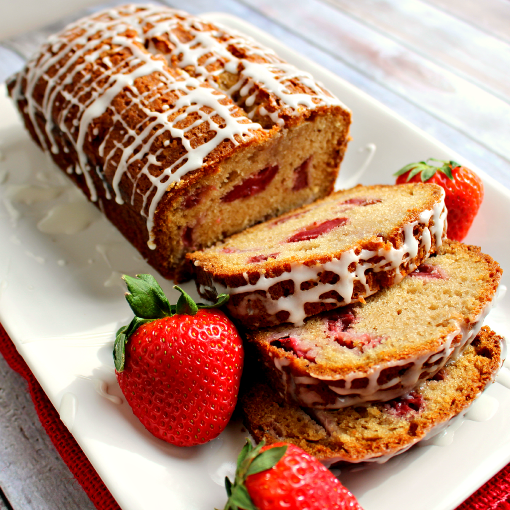 Strawberry Vanilla Quick Bread by Delightful E Made