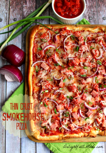 Thin Crust Smokehouse Pizza by Delightful E Made
