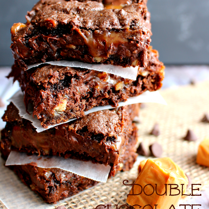 Made with a cake mix, this super chocolaty Double Chocolate Turtle Bars are just as easy as they are delicious! Loaded with lots of chocolate, caramel, and pecans, these bars are amazing anytime you're in the mood for a sweet treat!