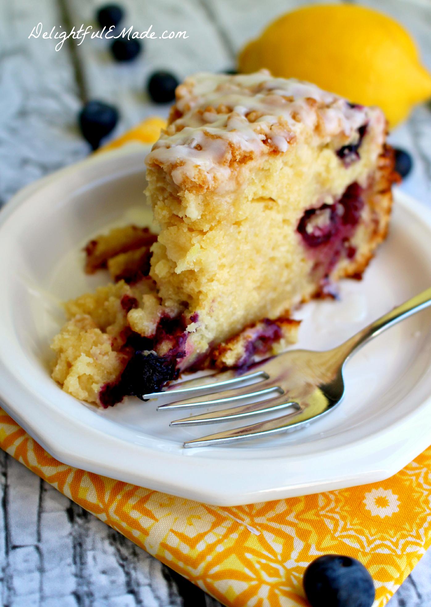 Lemon Blueberry Coffee Cake Delightful E Made