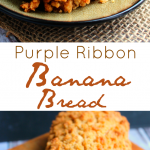 Purple Ribbon Banana Bread