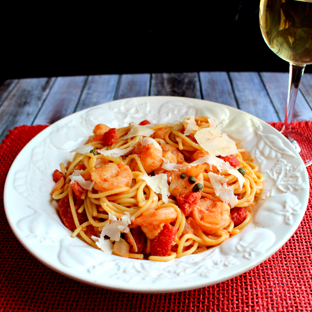 Shrimp Rossini Pasta by DelightfulEMade