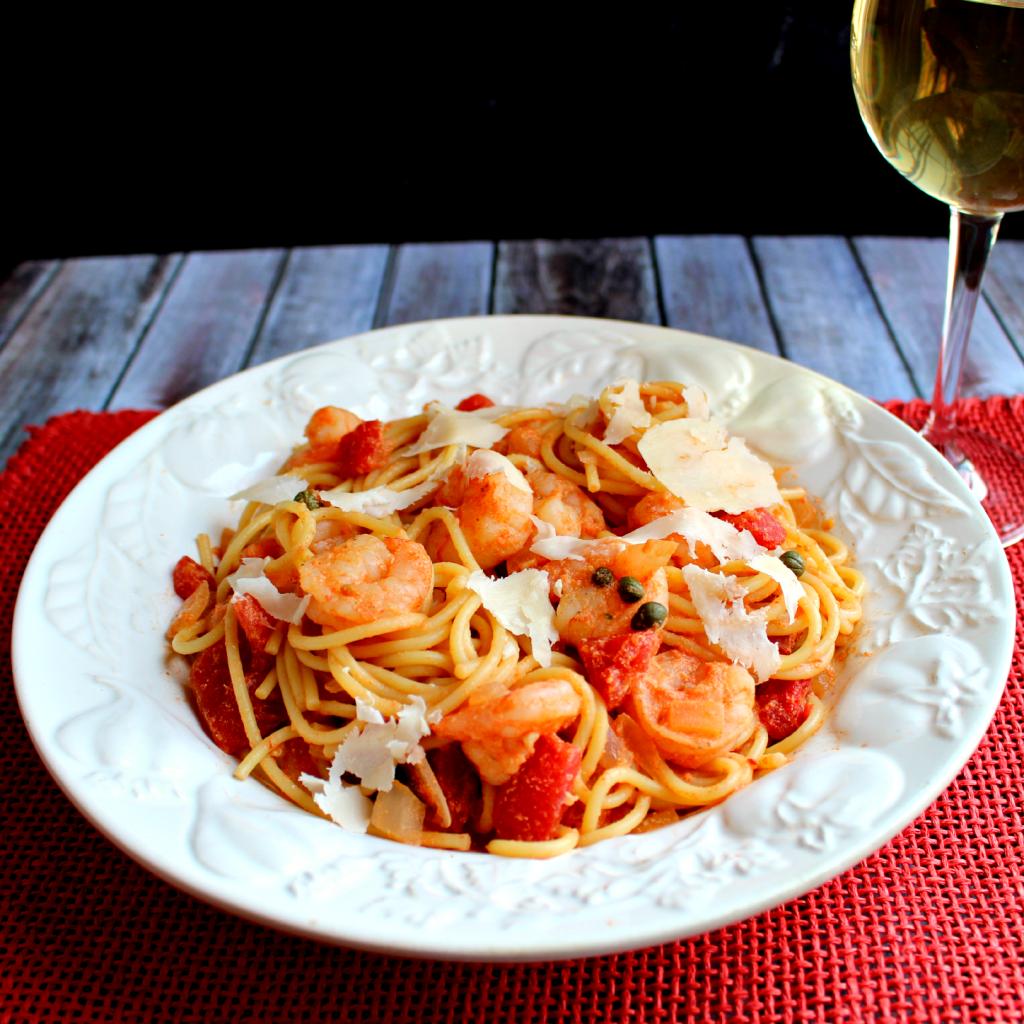 Shrimp Rossini Pasta by DelightfulEMade