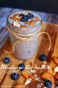 Need a quick, healthy breakfast loaded with protein to fuel your day? Look no further than this Blueberry Almond Chia Pudding! Made the night before, this simple and delicious breakfast is great for when you want to eat healthy but don't want to sacrifice on flavor.