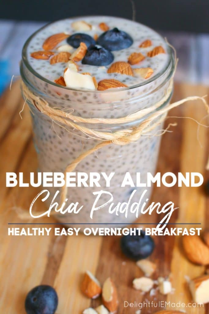 Need a quick, healthy breakfast loaded with protein to fuel your day? Look no further than this Blueberry Almond Milk Chia Pudding recipe! This simple, overnight recipe for how to make chia pudding very easy, as it takes just 5 minutes!