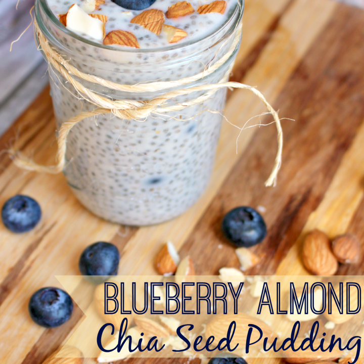 Perfect as a healthy breakfast or snack, this Blueberry Almond Chia Seed Pudding is healthy and delicious!