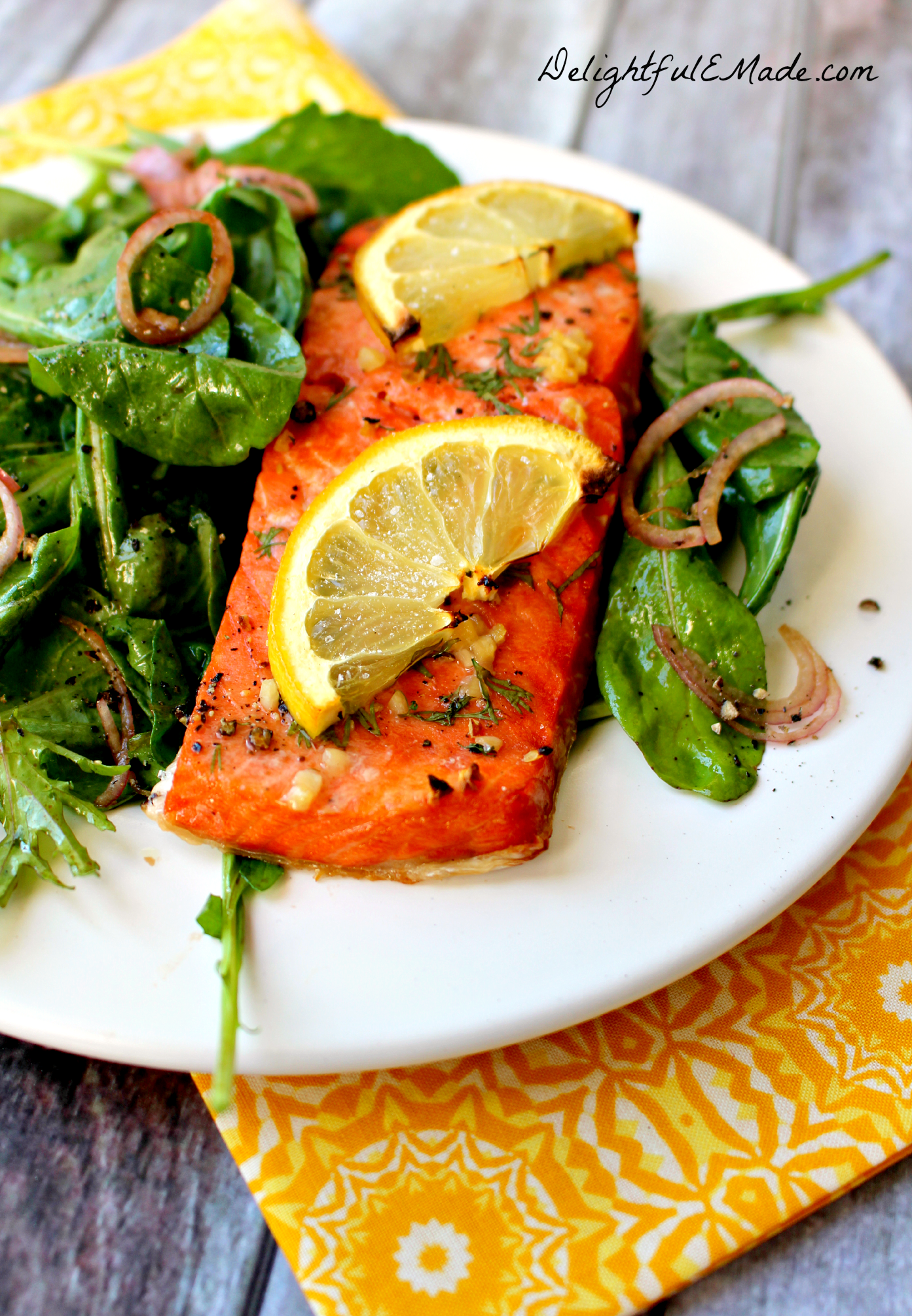 Grilled on a gas or charcoal grill, this salmon is easy, delicious and ...