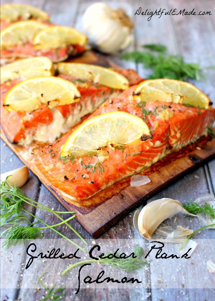 Grilled on a gas or charcoal grill, this salmon is easy, delicious and has just a few simple ingredients.  The perfect healthy, delicious summer dinner!