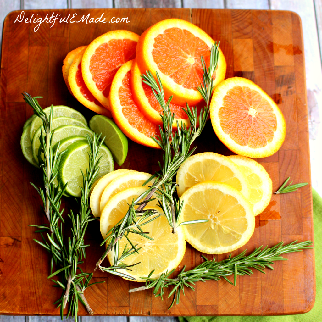 Rosemary Citrus Water by DelightfulEMade.com