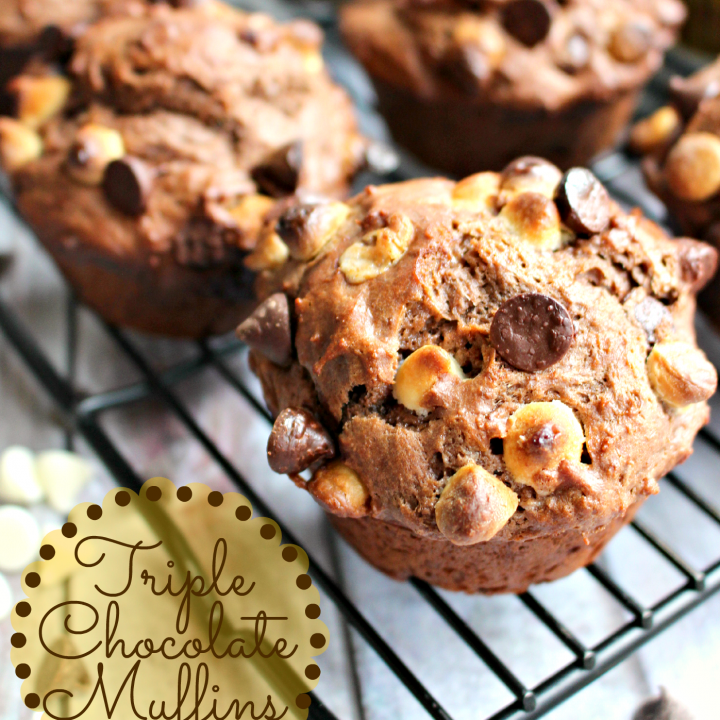 Triple Chocolate Muffins by Delightful E Made