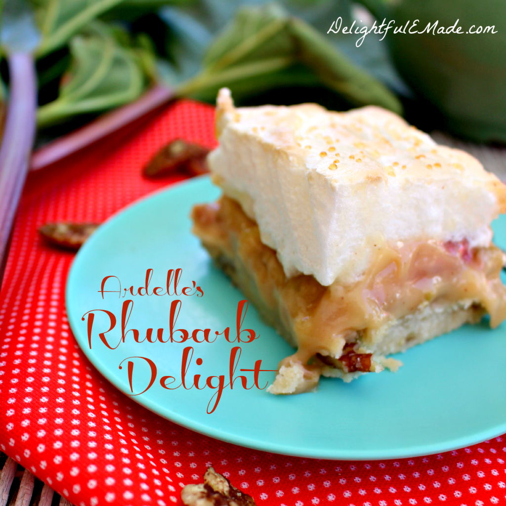 Ardelle's Rhubarb Delight by DelightfulEMade.com