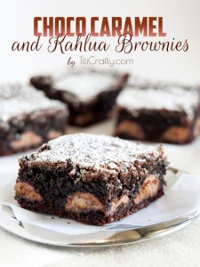 Chocolate Caramel and Kahlua Brownies