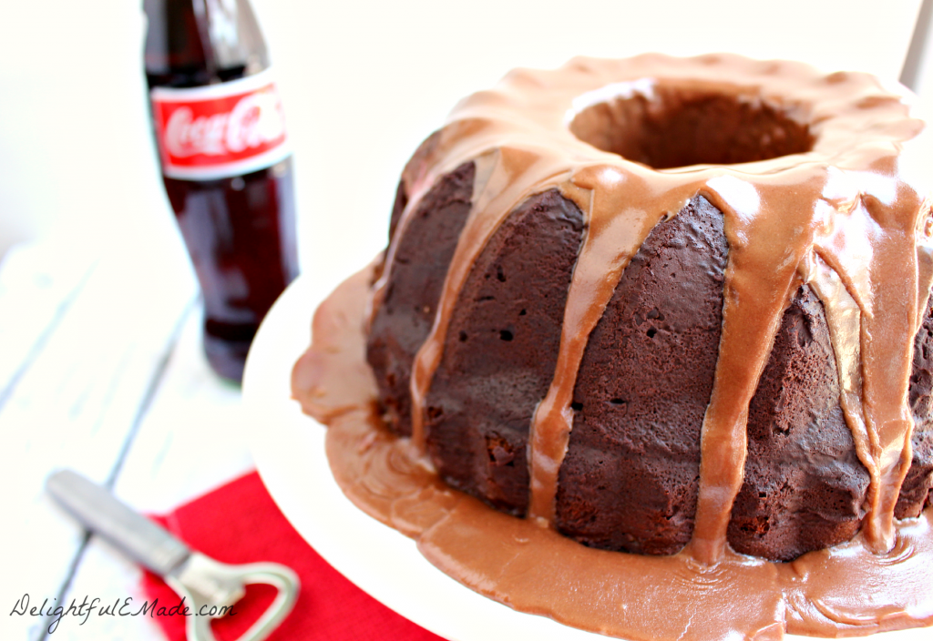 Chocolate Coca Cola Bundt Cake by DelightfulEMade.com