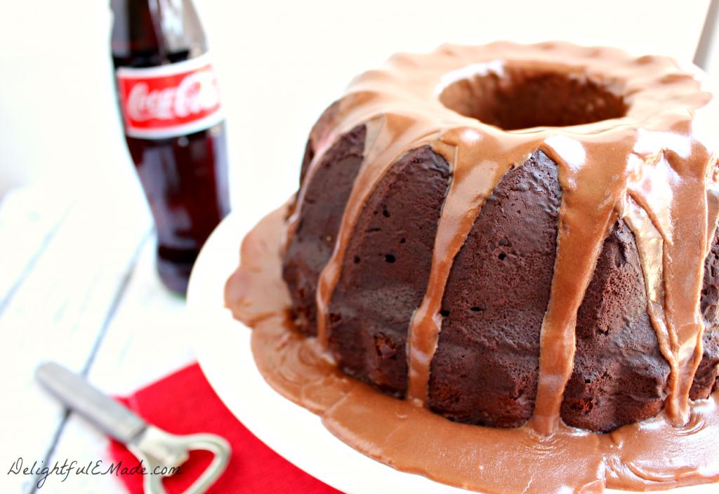 Chocolate Coca Cola Bundt Cake by DelightfulEMade.com