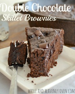 Double Chocolate Skillet Brownies