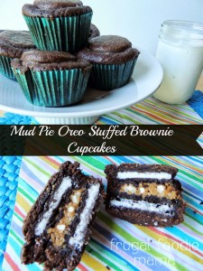 Mud Pie Oreo Stuffed Brownie Cupcakes