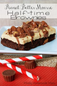Peanut Butter Mousse Half Time Brownies