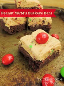 Peanut M&M Buckeye Bars