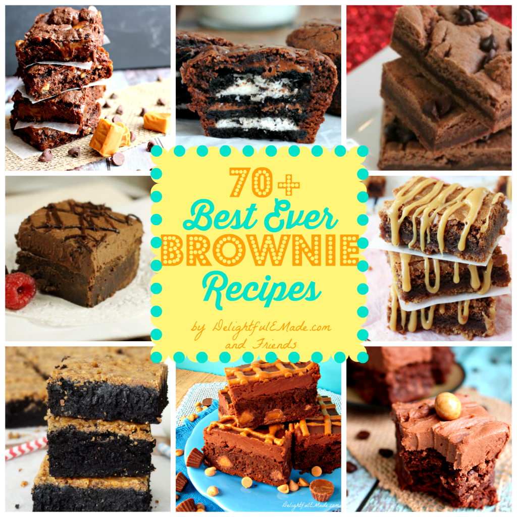 70+ Best Ever Brownie Recipes by DelightfulEMade.com