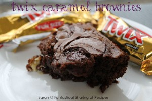 Twix Caramel Brownies