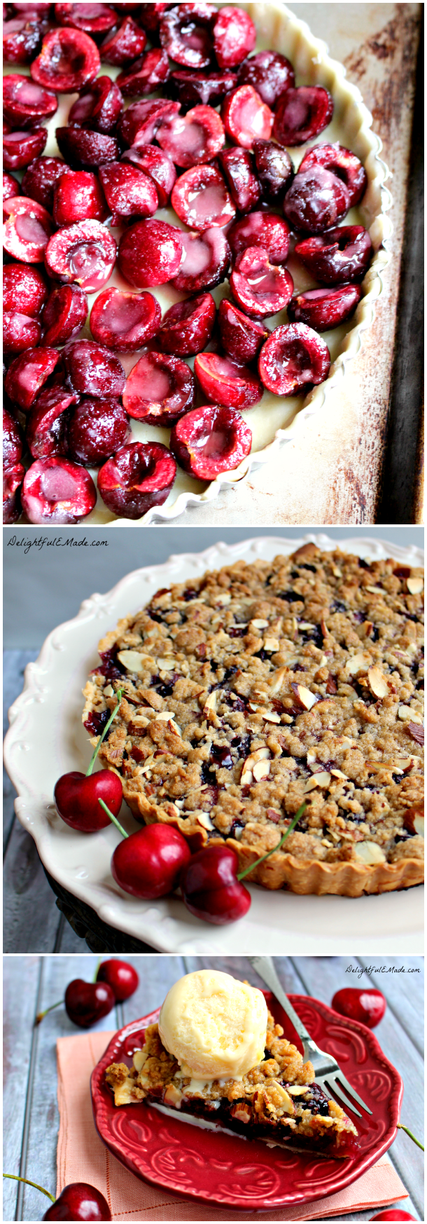 Sour Cherry Pie With Almond Crumble Recipe — Dishmaps