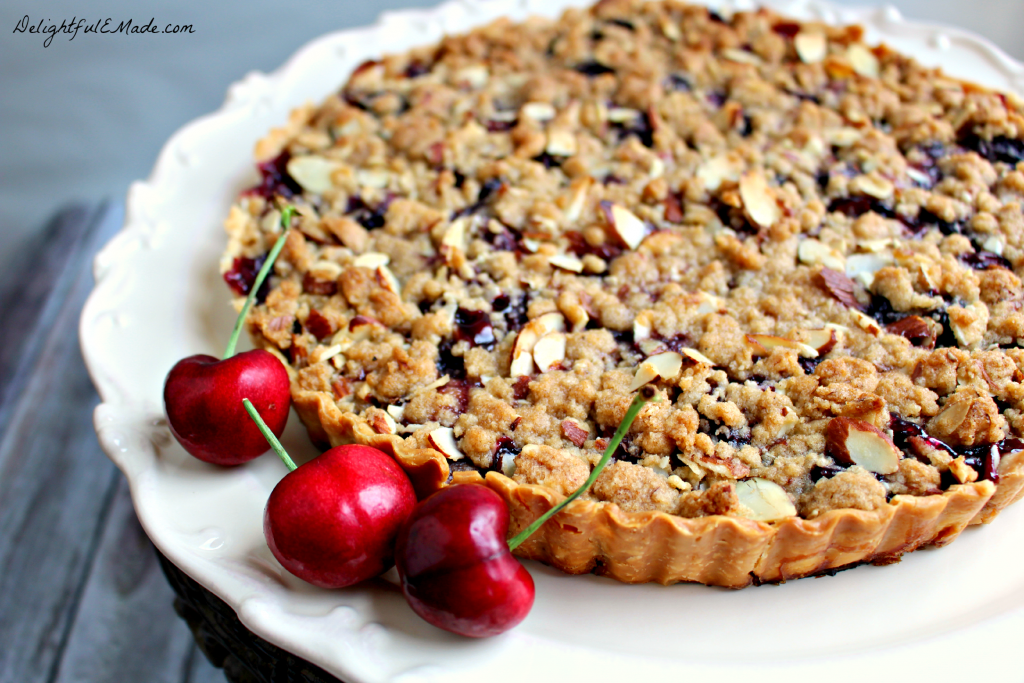 This delicious tart is filled with the flavors of summer! Super-simple to make, as it uses a store-bought pie crust, along with fresh cherries. Incredible warm out of the oven with a big scoop of ice cream!