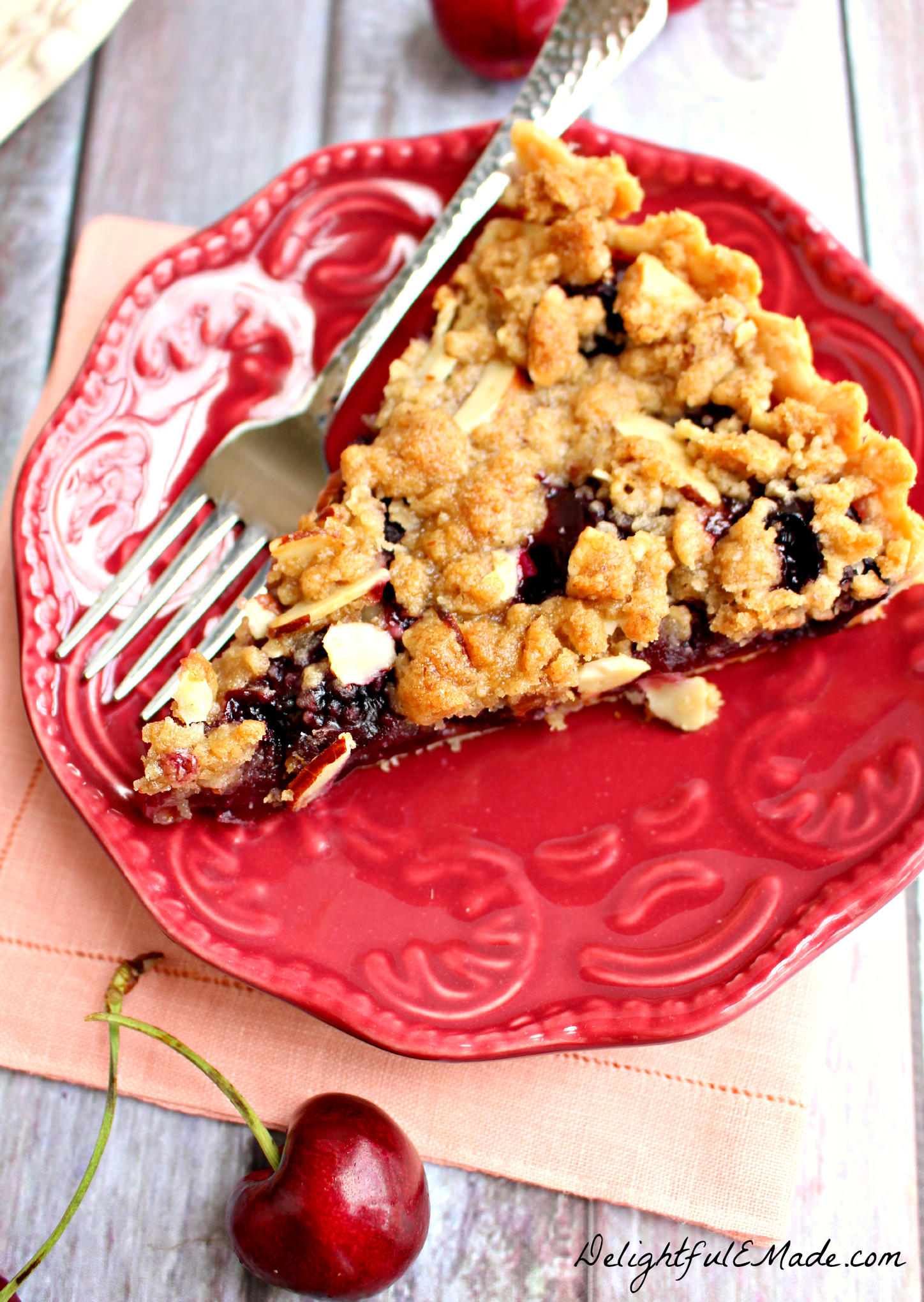 tart is filled with the flavors of summer! Made with fresh cherries ...