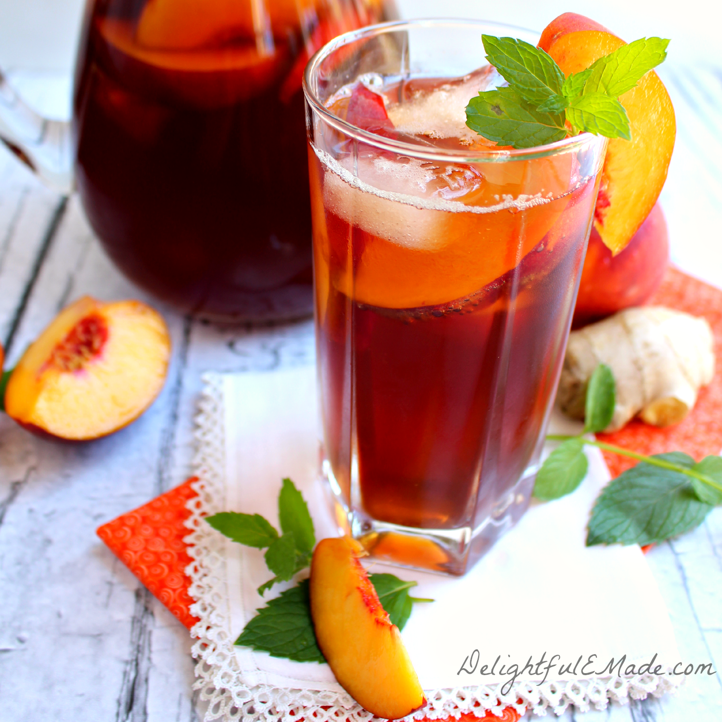 ginger iced tea apple ginger mint iced tea honeybush ginger iced tea ...