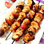 Grilled Chicken Skewers with Plums