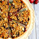 Cherry Almond Crumble Tart