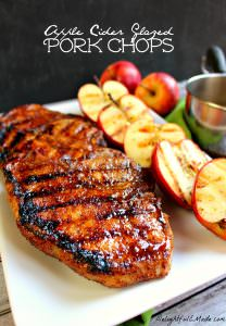 The ultimate recipe for glazed pork chops! Coated with an apple cider glaze, and grilled to perfection, these sweet and savory grilled pork chops are perfect any time you're in the mood for meat!