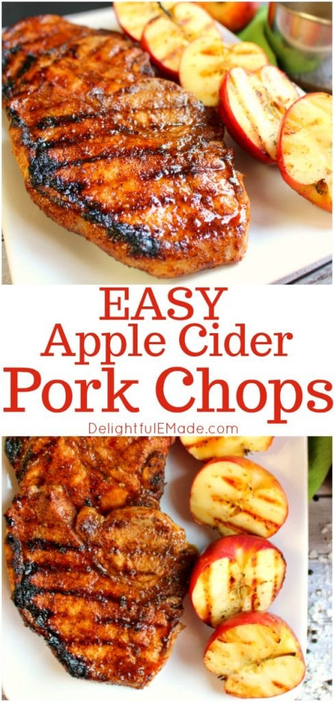 The ultimate recipe for glazed pork chops! Coated with an apple cider glaze, and grilled to perfection, these sweet and savory apple cider chops are perfect any time you're in the mood for meat!
